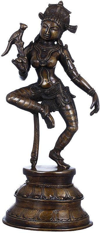 Dancing Apsara With a Parrot