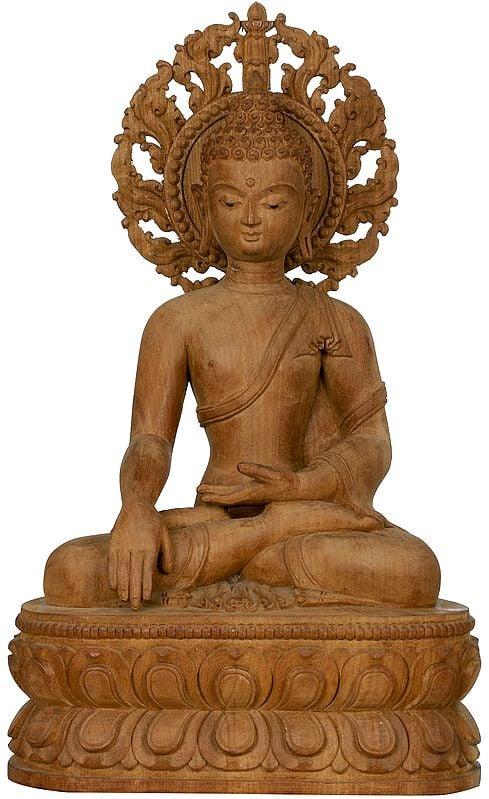 Made in Nepal - Tibetan Buddhist Buddha in Bhumisparsha Mudra
