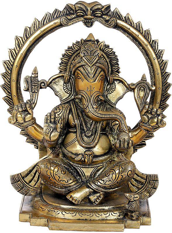 Chaturbhuja Seated Ganesha
