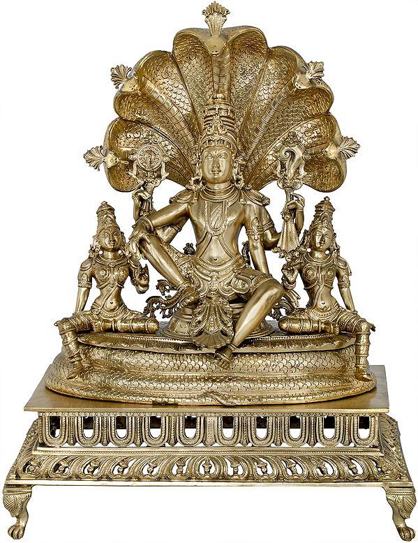 Sheshanaga Aureole Of Seated Lord Vishnu