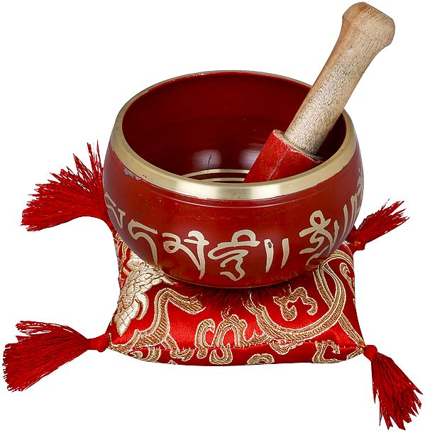 Tibetan Buddhist Auspicious Symbols Singing Bowl