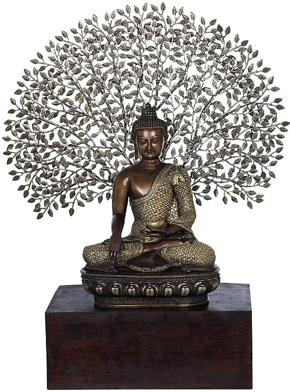 Padmasana Buddha Under The Lifelike Bodhi Tree