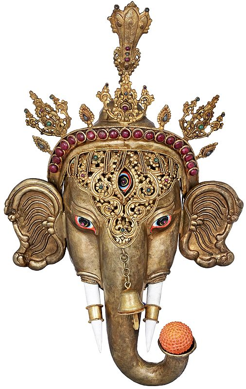 The Glory Of Lord Ganesha, Wall-Hanging Mask - Made in Nepal