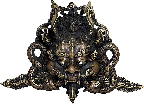 Tibetan Buddhist Wall Hanging Wrathful Garuda Mask - Made in Nepal