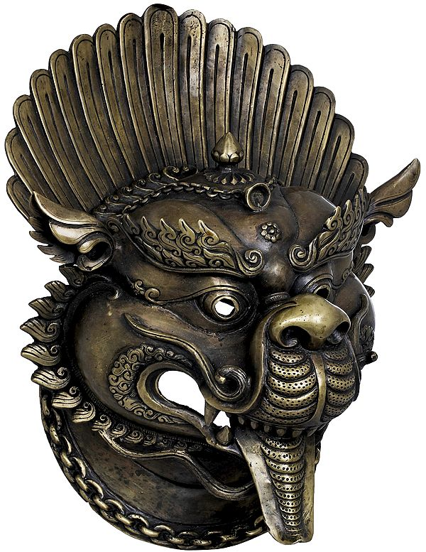 Tibetan Buddhist Deity Yamantaka Wall Hanging Mask - Made in Nepal