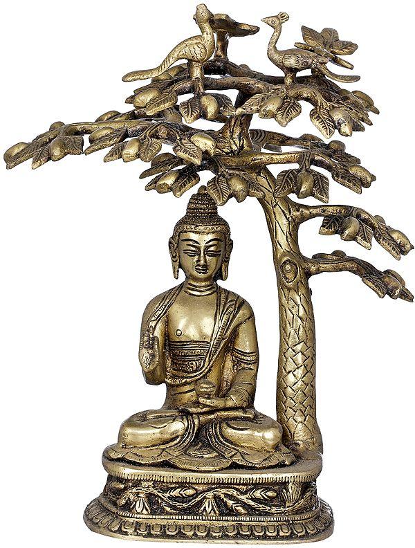 Tibetan Buddhist Deity Buddha Under The Bodhi Tree