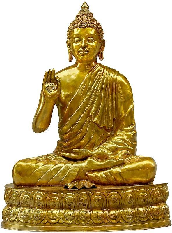 Large Size Lord Buddha Seated on Double Lotus Seat - Tibetan Buddhist