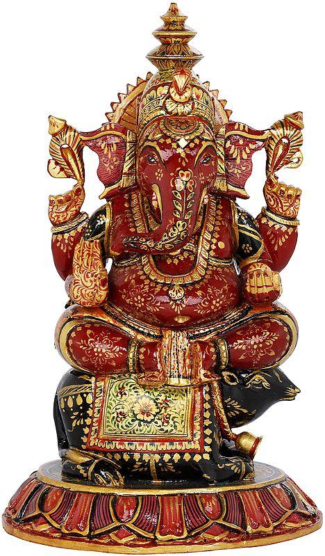 Ganesha Seated on His Vahana Rat