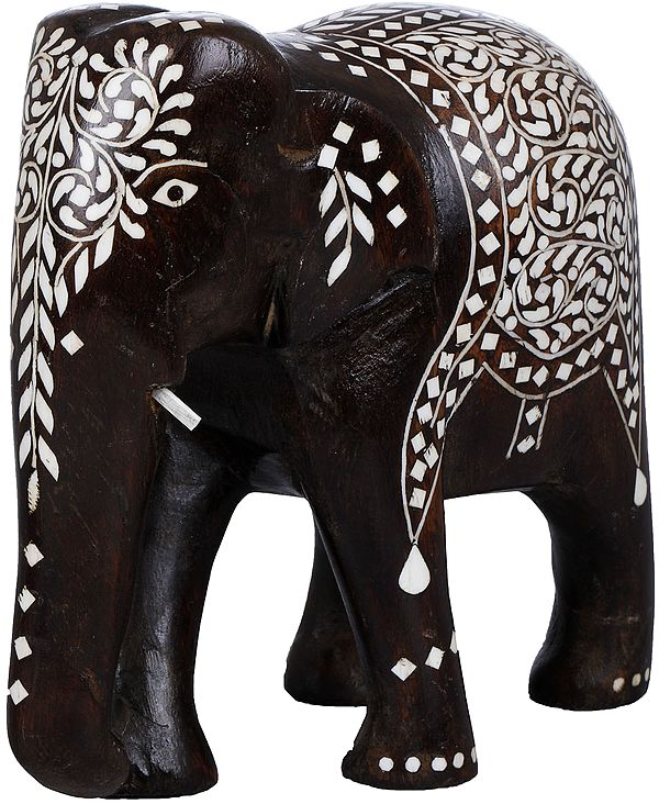 Decorated Wooden Elephant