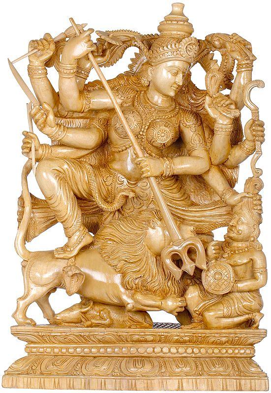 Goddess Durga Killing The Demon Mahishasura