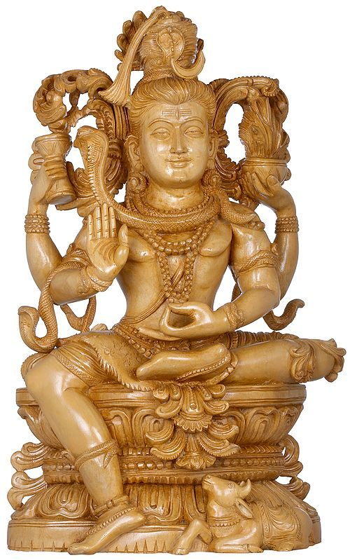 Intricately Sculpted Seated Lord Shiva