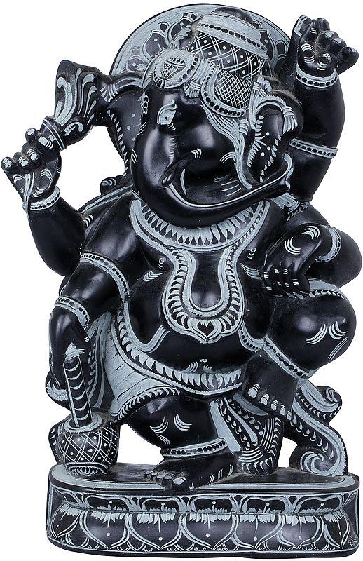 Four Armed Dancing Ganesha