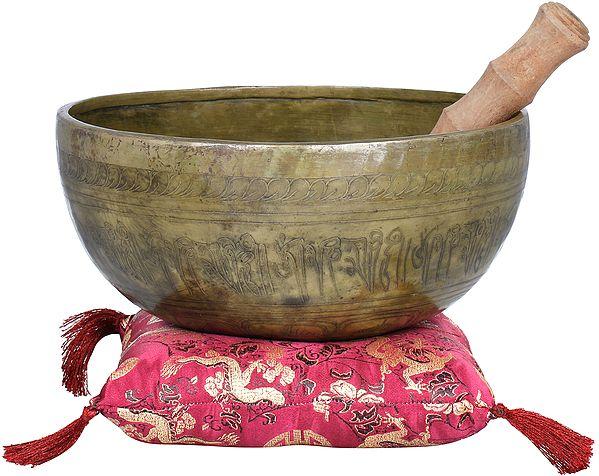 Singing Bowl with Buddha in Bhumisparsha Mudra-Tibetan Buddhist