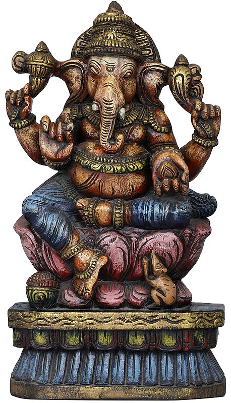 Ganesha on his Lotus Throne