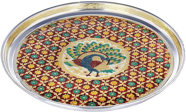 Peacock Large Puja Thali