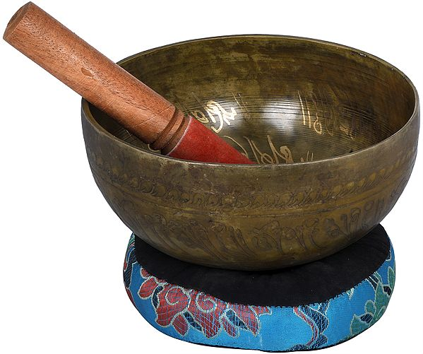 Tibetan Buddhist - Bhumisparsha Buddha Singing Bowl (Made in Nepal)