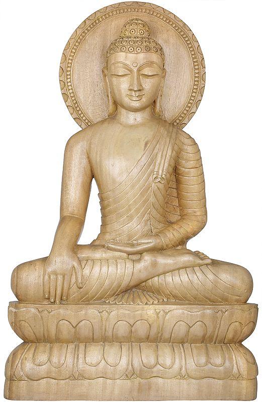 Lord Buddha in Bhumisparsha Mudra - Tibetan Buddhist