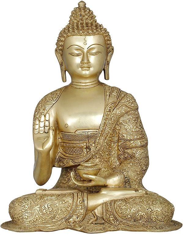 Tibetan Buddhist Lord Buddha Interpreting His Dharma