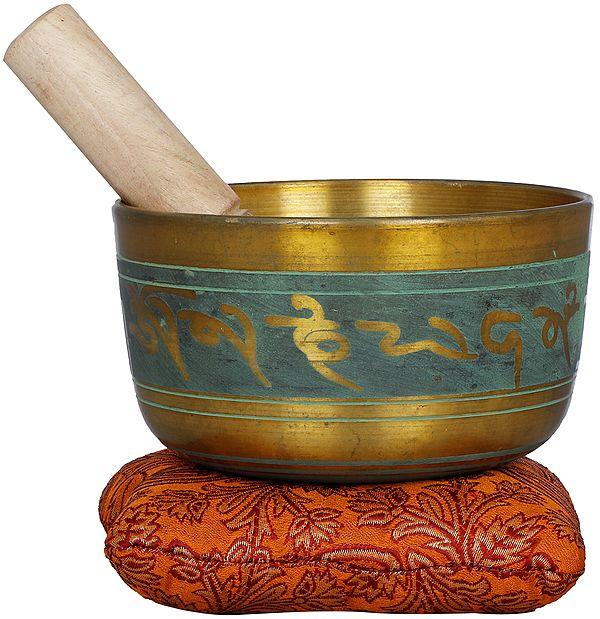 Tibetan Buddhist Singing Bowl with Auspicious Mantras