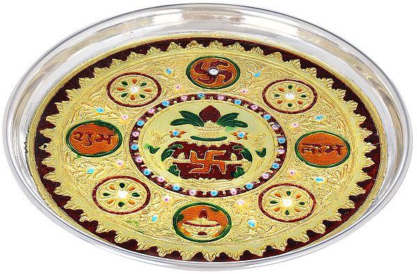 Shubh Labh Auspicious Puja Thali
