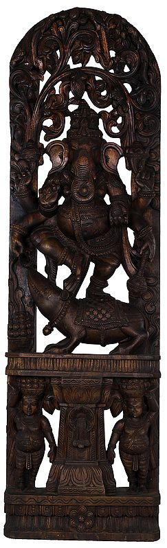 The Divine Dance of Six Armed Ganesha - Large Size