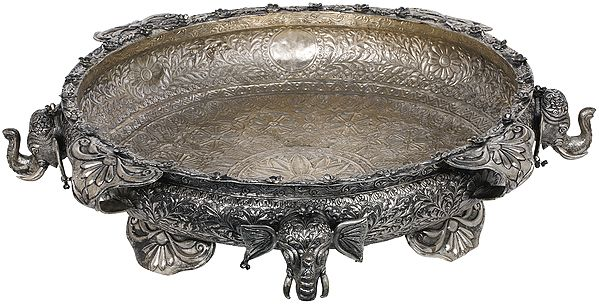 Large Urli with Exquisite and Intricate Carving