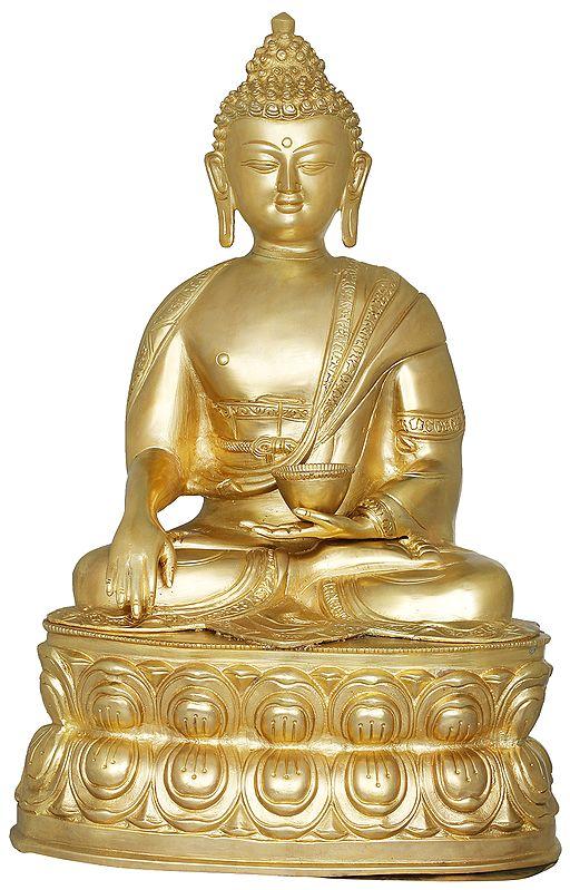 Tibetan Buddhist Lord Buddha with Begging Bowl