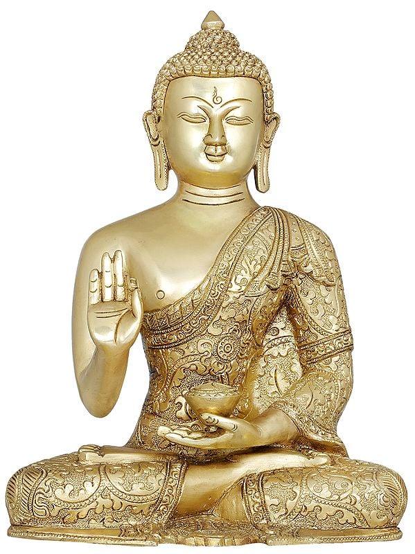 Lord Buddha Preaching His Dharma- Tibetan Buddhist