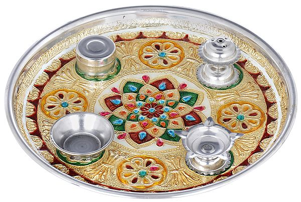 Decorated Puja Thali