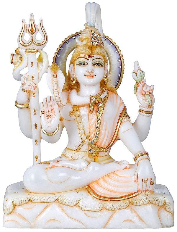 Padmasana Ardhanarishvara