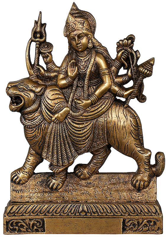 Goddess Durga (Table Piece Flat Statue)