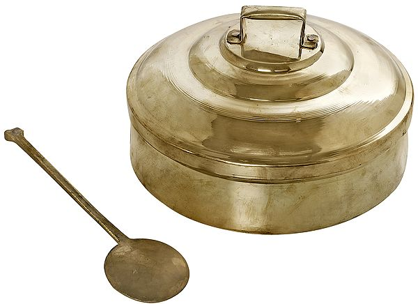 Vessel and Spoon For Distributing Prasadam