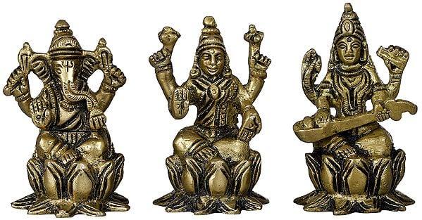 Lakshmi Ganesha Saraswati - Small Size
