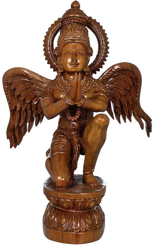 Superfine Garuda in Namaskaram Mudra