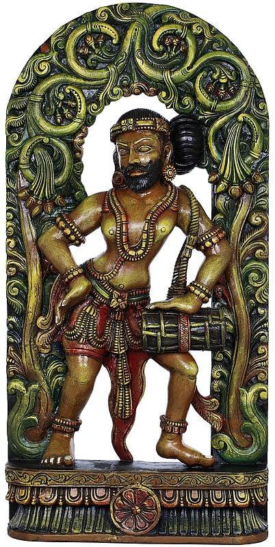 Khajuraho Musician Under The Vine