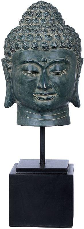 Wooden Stand Buddha-Head