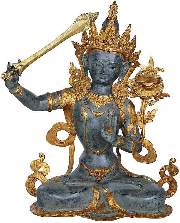 Bodhisattva Manjushri, A Striking Bitone Composition