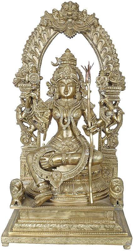 Goddess Rajarajeshwari - Tripura Sundari (Hoysala Art)