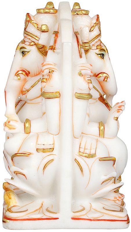 Identical Blessing Ganesha Carved on Both Sides