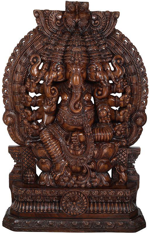 Panchamukha Lord Ganesha, An Imposing Chhavi