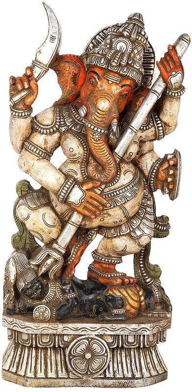 The Warrior Siddhi Vinayaka Ganesha - Large Size