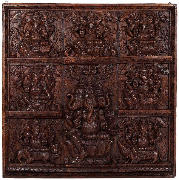 Ashtavinayaka (Eight Ganeshas) Panel