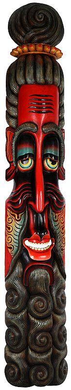 Super Large Sadhu (Hermit) Mask - Made in Nepal