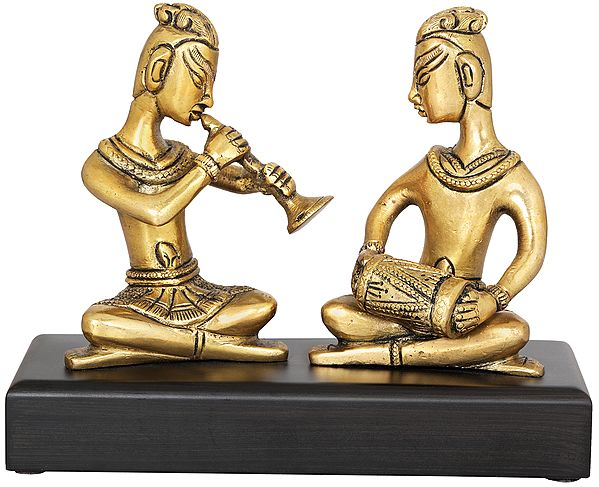Musicians Playing for Lord Ganesha