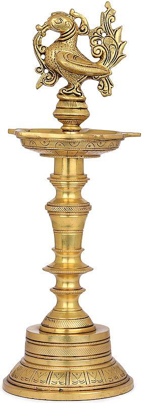 Five Wicks Annam Lamp (Peacock Lamp)
