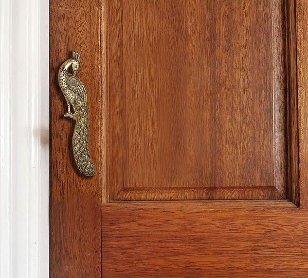 Pair of Fine Quality Peacock Door Handles