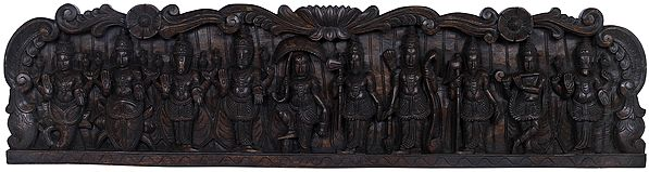 Dashavatara Panel - Lord Vishnu's Ten Incarnations