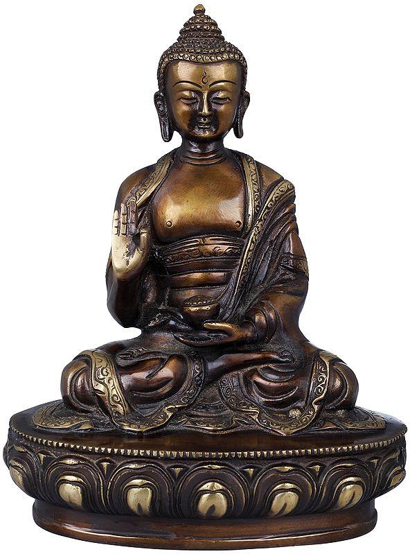 Lord Buddha in Vitark Mudra - Tibetan Buddhist