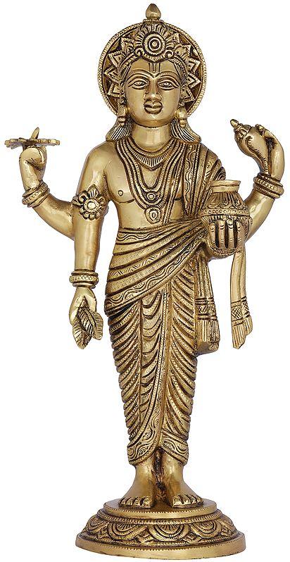 Lord Vishnu as Dhanvantari - The Physician of the Gods