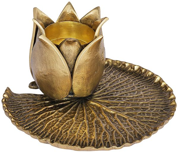 Designer Lotus Flower Candle Stand